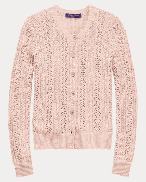 Pointelle Knit Cardigan by Ralph Lauren