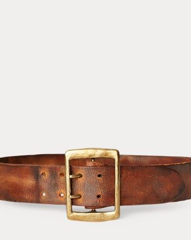 Distressed Vachetta Belt