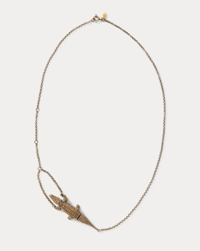 Crocodile Gold Chain Necklace