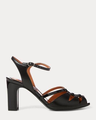 Hazelle Nappa-Patent Sandal