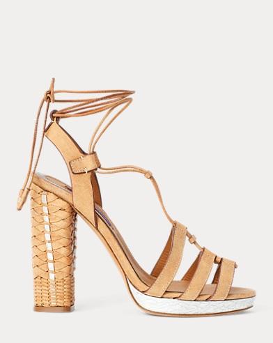 Atida Metallic Calfskin Sandal
