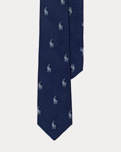 Polo Player Silk Tie