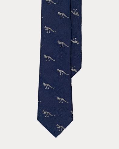 Dinosaur Silk Tie