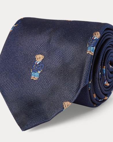 Polo Bear Silk Repp Narrow Tie