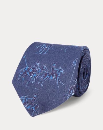 Polo Linen-Silk Narrow Tie