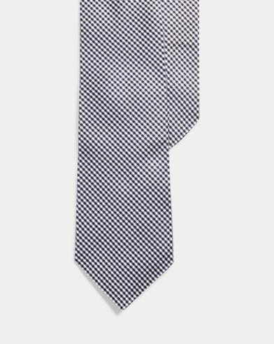 Glen Plaid Silk Narrow Tie
