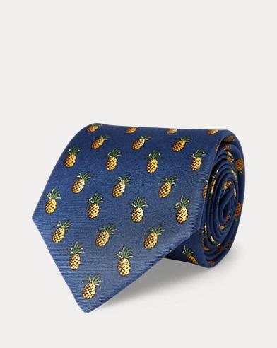 Pineapple Silk Narrow Tie
