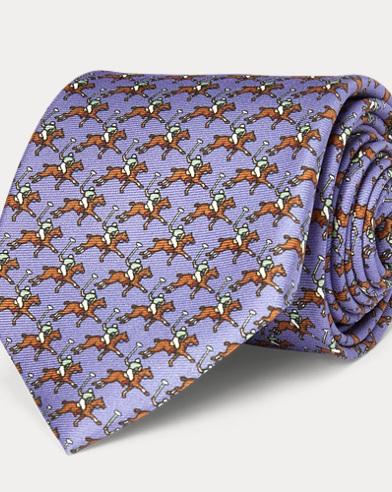 Polo Player Silk Narrow Tie
