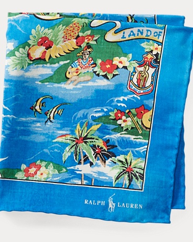 Hawaiian Silk Pocket Square