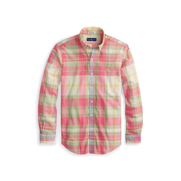 Ralph Lauren Classic Fit Madras Shirt Fuchsia/Lime Multi Xs