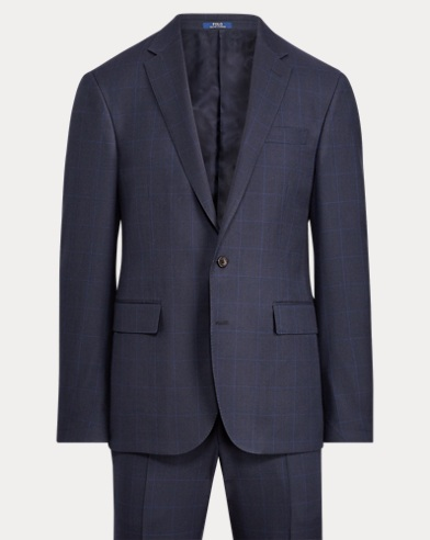 Polo Windowpane Birdseye Suit