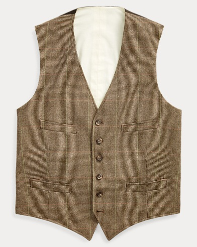 Tick-Weave Wool-Silk Vest