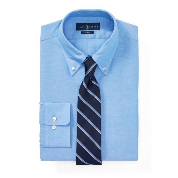 Ralph Lauren Slim Fit Dress Shirt 2260 Cascade Blue/White 17