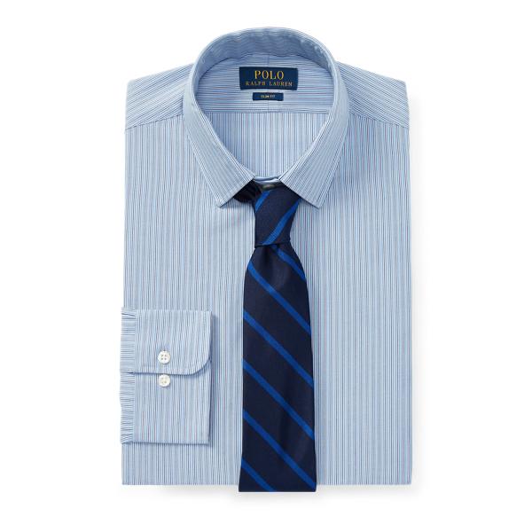 Ralph Lauren Slim Fit Striped Oxford Shirt 2334 Blue/White 14.5
