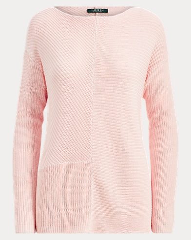 Ribbed Cotton-Blend Pullover