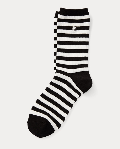 Striped Ribbed Trouser Socks