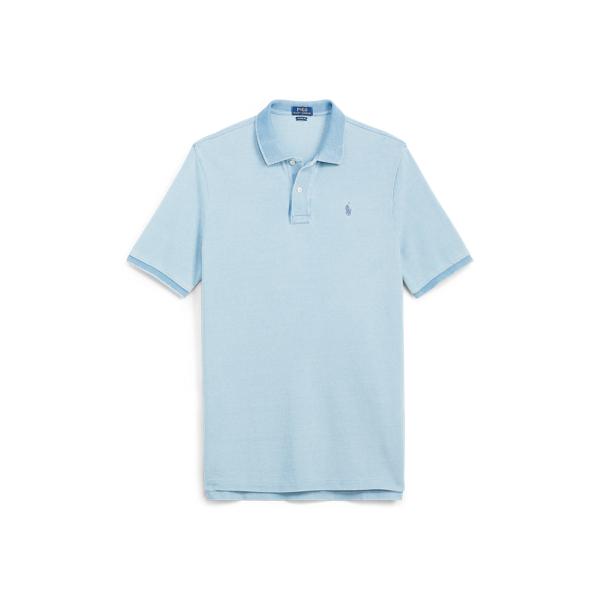 Ralph Lauren Classic Fit Mesh Polo Shirt Light Indigo L Tall