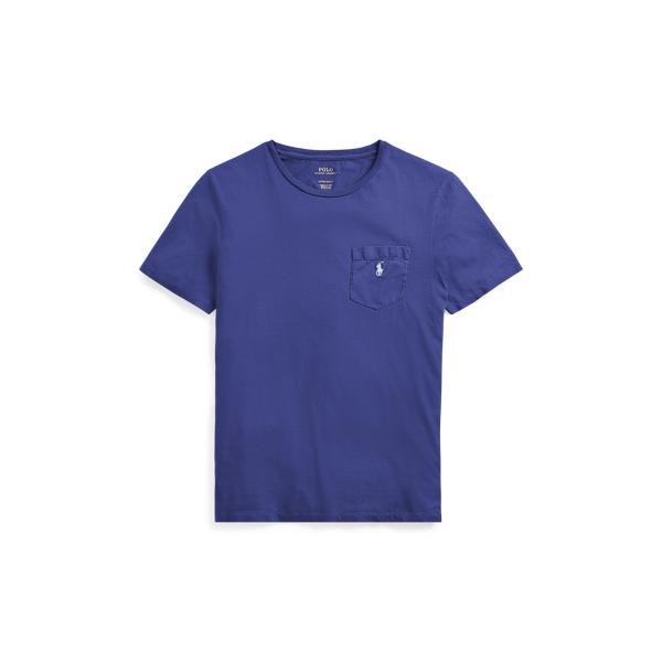 Ralph Lauren Custom Slim Fit Cotton T-Shirt Provincetown Blue Xs