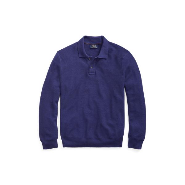 Ralph Lauren Merino-Silk-Cashmere Sweater Fall Royal Xs