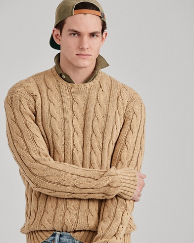 Cable Cotton-Cashmere Sweater