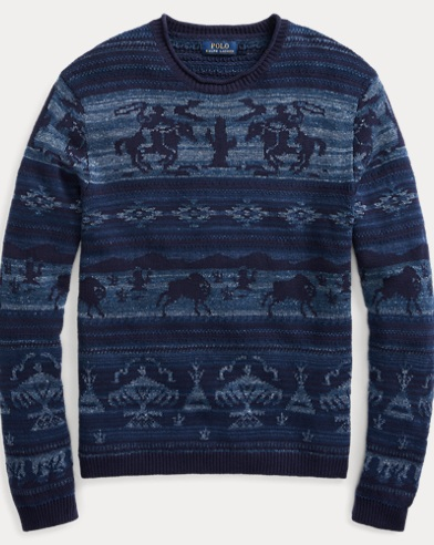 Intarsia Cotton-Blend Sweater