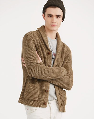 Cotton-Linen Shawl Cardigan