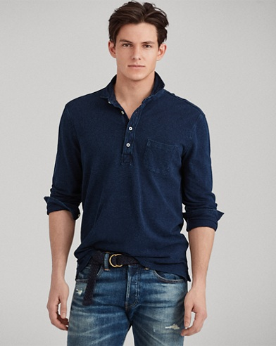 Custom Slim Fit Indigo Shirt