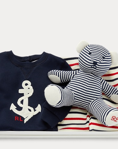 Striped Outfit & Bear Gift Set
