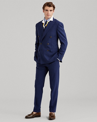 Polo Pinstripe Wool-Blend Suit
