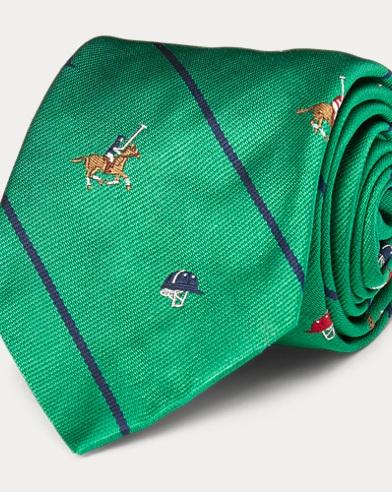 Striped Silk Repp Narrow Tie