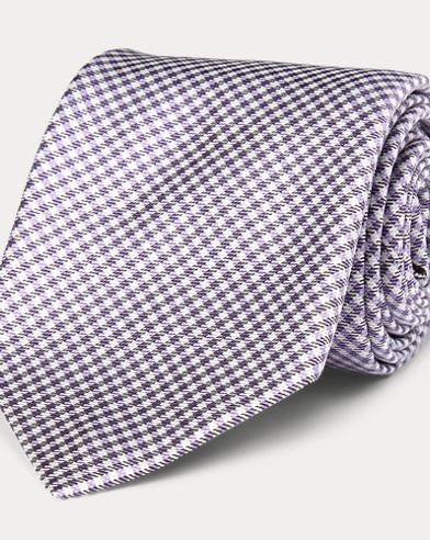 Gingham Silk Narrow Tie