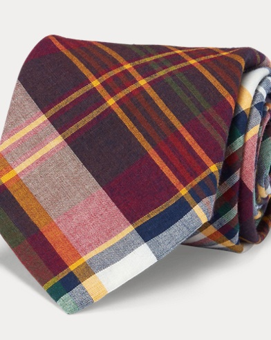 Vintage-Inspired Madras Tie