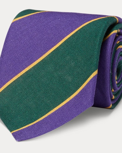 Vintage-Inspired Linen Tie