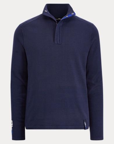 Cotton-Blend Half-Zip Sweater