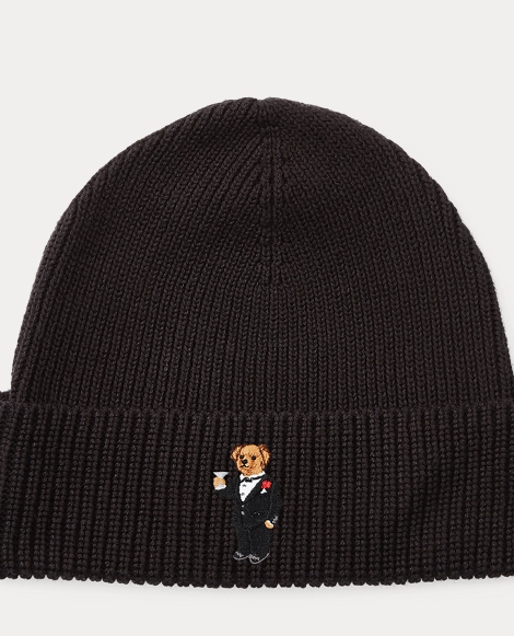Martini Polo Bear Ribbed Hat