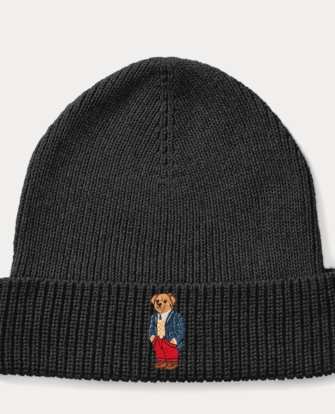 Tartan Polo Bear Ribbed Hat