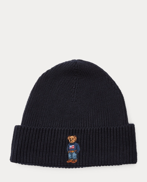 Sweater Polo Bear Ribbed Hat