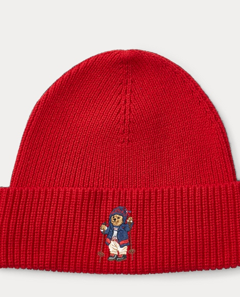 Skier Polo Bear Ribbed Hat