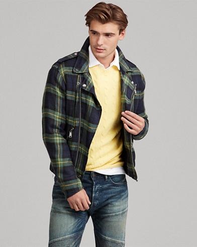 Tartan Linen Moto Jacket