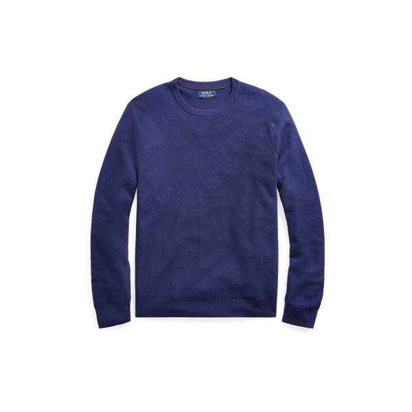 Ralph Lauren Merino-Silk-Cashmere Sweater Fall Royal S