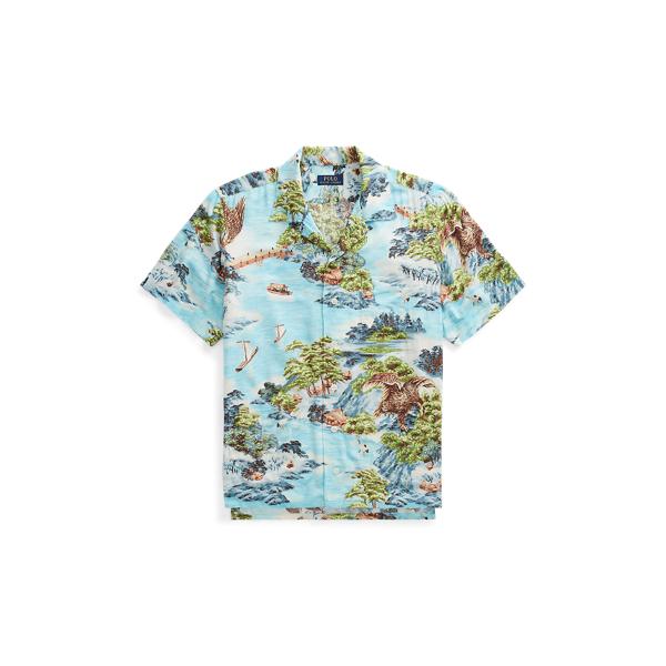 Ralph Lauren Classic Fit Camp Shirt Landscape Hawaiian S