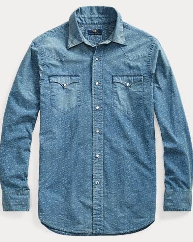 Classic Fit Print Twill Shirt
