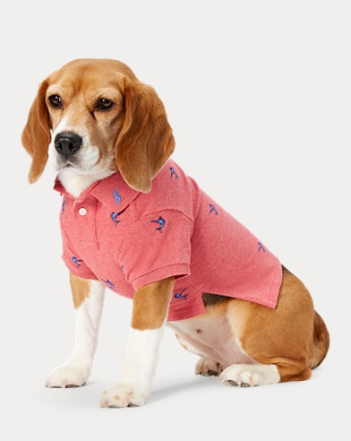 Marlin-Embroidered Dog Polo