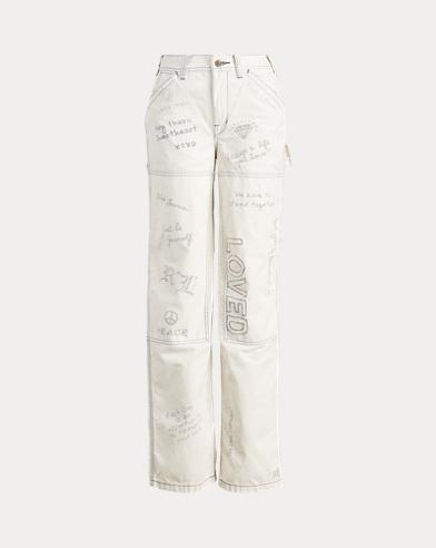 Graffiti Wide-Leg Pant