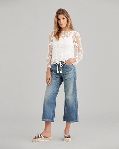 Wide-Leg Crop Jean