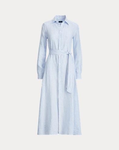 Striped Linen Shirtdress