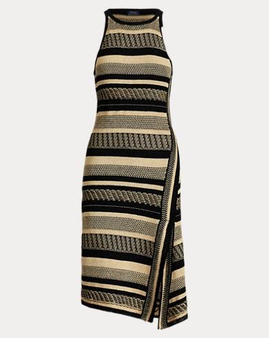 Linen-Cotton Wrap Dress