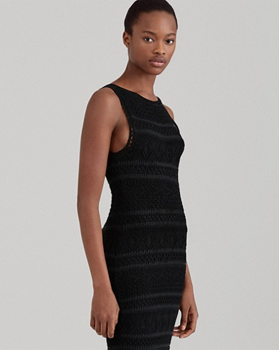 Crocheted Cotton Sheath Dress