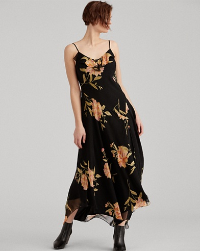 Floral Silk Maxidress