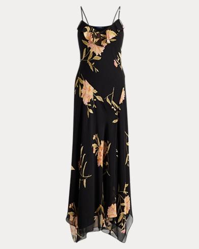Floral Silk Maxidress